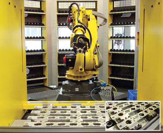 Die Triag-Spanntechnik ist optimal geeignet für die Automation.