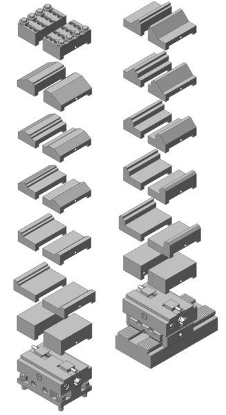 Minizentrischspanner mit verschiedenen Backen