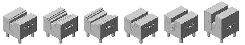 Micro-Zentrischspanner mit verschiedenen Backen